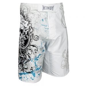 Windy White Skull MMA Shorts